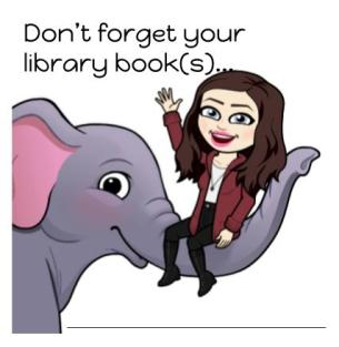 Don't Forget Your Library Book